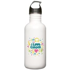 I Love Choir Music Water Bottle