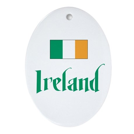 Ireland Flag Oval Ornament