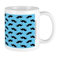 Mustache Design Teal and Black Mug