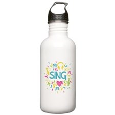 Sing Choir Music Water Bottle