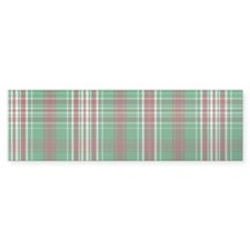 Christmas Plaid Bumper Bumper Sticker