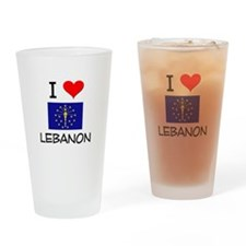 I Love LEBANON Indiana Drinking Glass