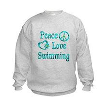 Peace Love Swimming Sweatshirt