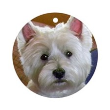 WESTIE ACCENTS Round Ornament