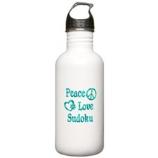 Peace Love Sudoku Water Bottle