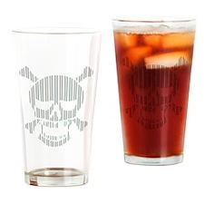 Skull Vertical Stripes Drinking Glass