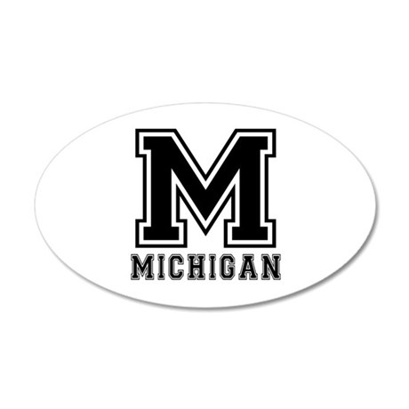 Michigan State Designs 20x12 Oval Wall Decal