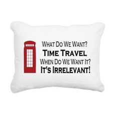 Time Travel Rectangular Canvas Pillow