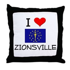 I Love ZIONSVILLE Indiana Throw Pillow
