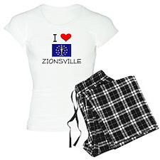 I Love ZIONSVILLE Indiana Pajamas