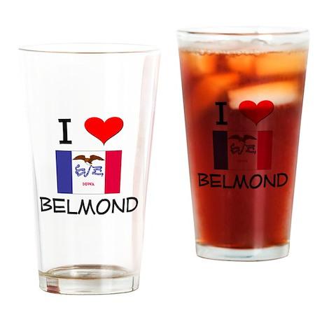 I Love Belmond Iowa Drinking Glass