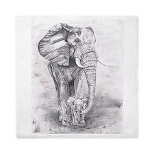 African Elephants Queen Duvet