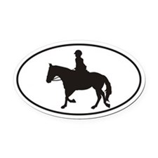 Female English Style_Black Horse Vehicle Magnet