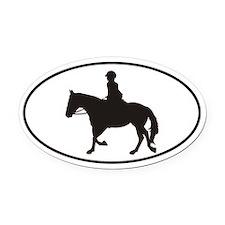 Female English Style_Black Horse Vehicle Magnet