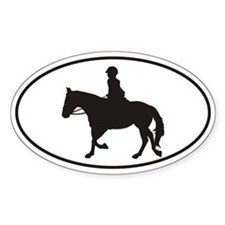Female English Style_Black Horse Decal