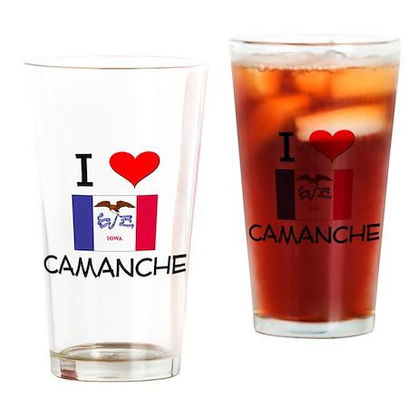I Love Camanche Iowa Drinking Glass