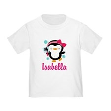 Custom 4th Birthday Penguin T-Shirt