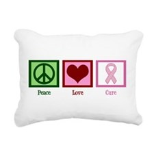 Peace Love Cure (pink) Rectangular Canvas Pillow