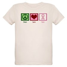 Peace Love Cure (pink) T-Shirt