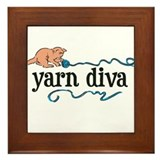 Yarn Diva Framed Tile