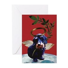 Wirehaired Dachshund Peace Greeting Cards (10 Pk)