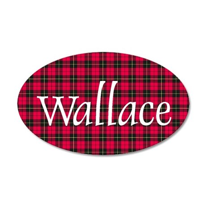 Tartan - Wallace 35x21 Oval Wall Decal