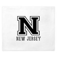 New Jersey State Designs King Duvet