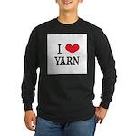 I Love Yarn Long Sleeve Dark T-Shirt