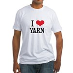 I Love Yarn Fitted T-Shirt