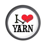 I Love Yarn Wall Clock