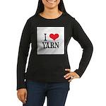 I Love Yarn Women's Long Sleeve Dark T-Shirt