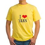 I Love Yarn Yellow T-Shirt