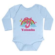 Personalized Y Monogram Body Suit