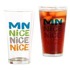 Minnesota Nice Nice Nice Drinking Glass