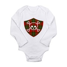 Mac Gregor Tartan Skull And Bones Shield Body Suit