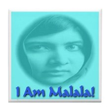 I Am Malala Tile Coaster