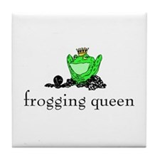 Yarn - Frogging Queen Tile Coaster