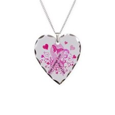 Pink Ribbon with Love Necklace