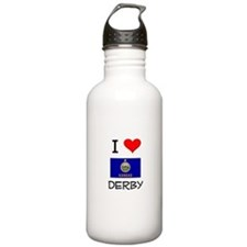 I Love DERBY Kansas Water Bottle