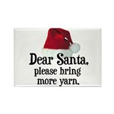 Santa Bring More Yarn Rectangle Magnet