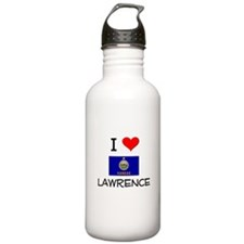 I Love LAWRENCE Kansas Water Bottle