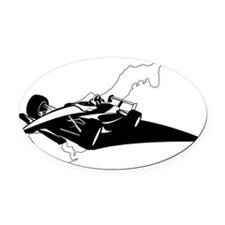 F1 Monaco Oval Car Magnet