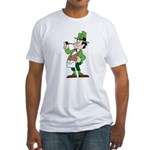 The Masonic Leprechaun. Fitted T-Shirt