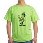 The Masonic Leprechaun. Green T-Shirt