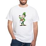 The Masonic Leprechaun. White T-Shirt