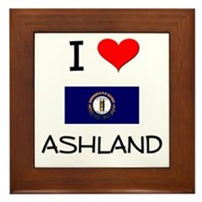 I Love ASHLAND Kentucky Framed Tile