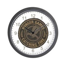Catching Fire MockingJay Logo Wall Clock