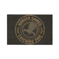 Catching Fire MockingJay Logo Rectangle Magnet