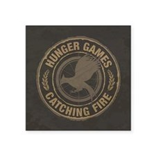 Catching Fire MockingJay Logo Square Sticker 3&quo