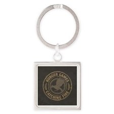 Catching Fire MockingJay Logo Square Keychain